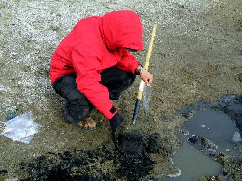Liu sampling sediments